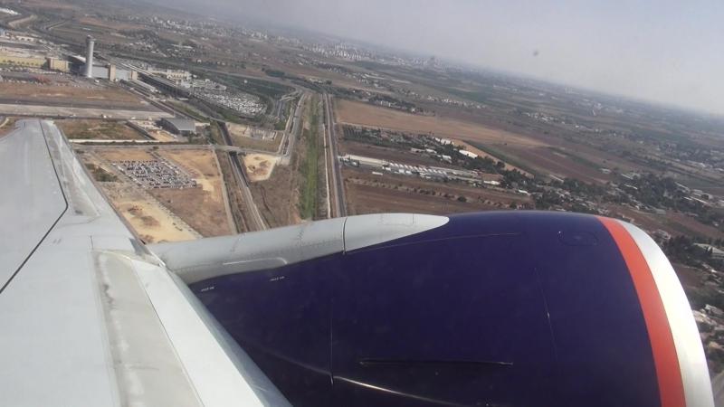 Взлет (b777-300er) из аэропорта LLBG