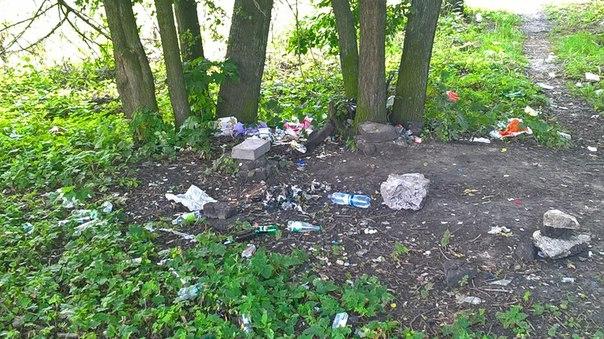 Любители пикников  убирайте за собой мусор