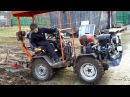 Самодельный трактор-переломка