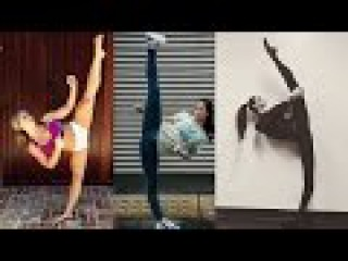 Crazy karate girls - flexible and strong / female fitness moments 2017