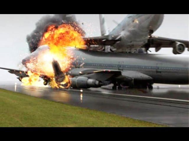 Секунды до катастрофы. Столкновение на взлётной полосе самолетов Boeing 747