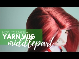 How to Make a Yarn Wig for your Dolls: Middlepart
