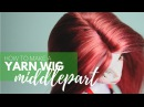How to Make a Doll Wig | Basic Middlepart | Mozekyto 2