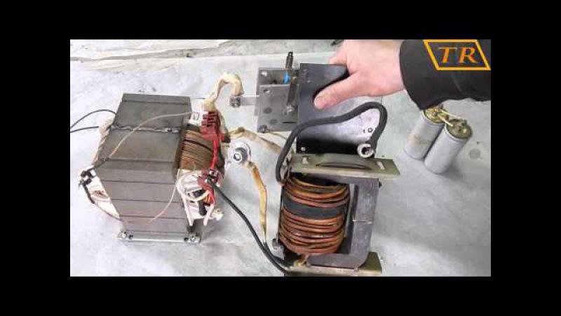 Бюджетные сварочные полуавтоматы4 подключение тиристора и конденсаторов
