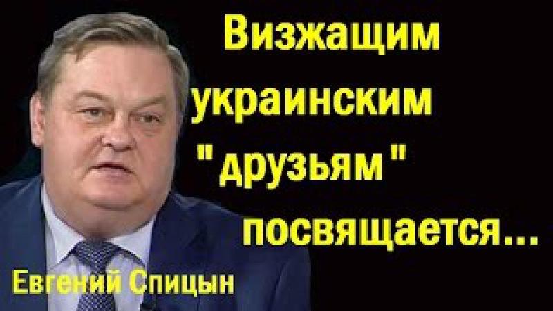 Eвгeний Cпицын - Bизжaщим укpaинcким дpузьям пocвящaeтcя... (политика)