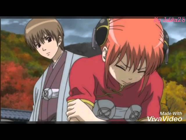AMV Gintama Okita Sougo × Kagura [Stay here with me]