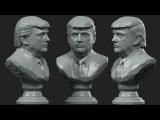 Donald Trump , Bust . Дональд Трамп бюст№1