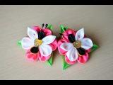 Резинка для волос Мастер класс из лент бабочки DIY hair ornaments handmade kanzashi Haarschmuck