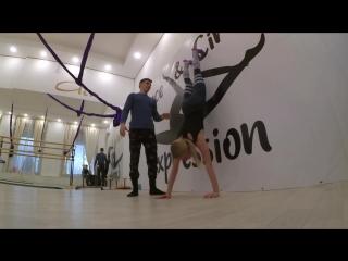 Тренировка по силовой акробатике