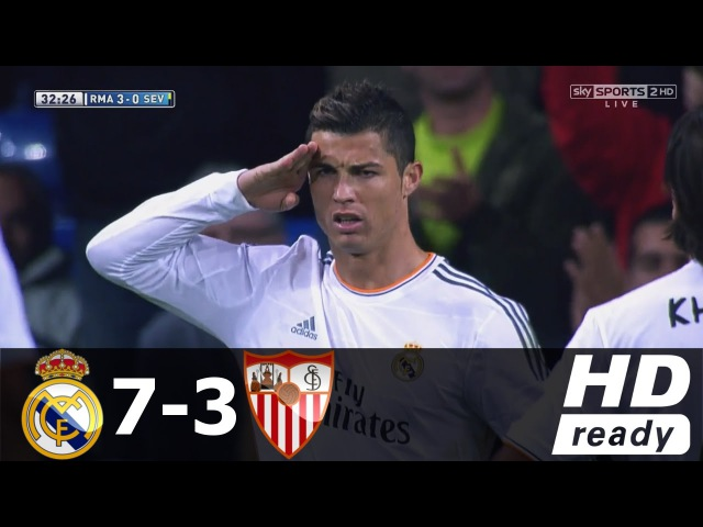 Real Madrid vs Sevilla 7-3 (Liga BBVA) - All Goals Extended Highlights - 30/10/2013 HD