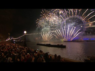 New Years Fireworks London 2017 Full HD
