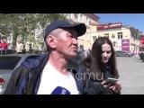 Интервью с участниками ДТП в центре Омска