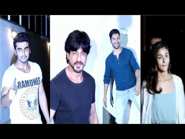 Bollywood Superstars at Karan johar's Dharma Productions REUNION Party.