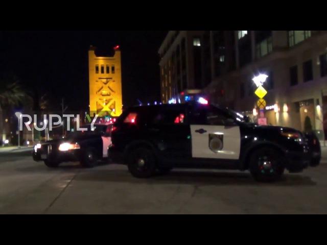 США: Женщина арестована после того, как на заложенном взрывном Сакраменто моста.