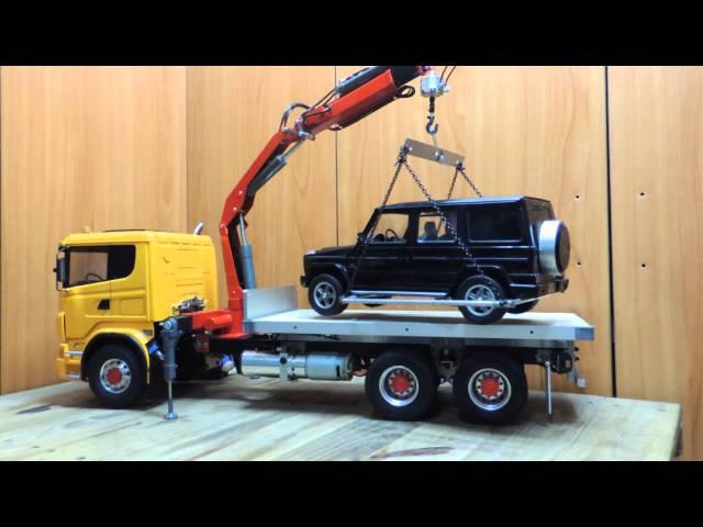 R620 1/14 隨車卡車吊手第三次測試1/14 G55試吊