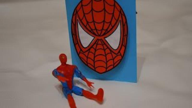 Как сделать руки человека паука из бумаги