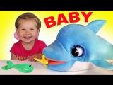 ✿ Дельфин БЛУ БЛУ Интерактивный Смешной и Милый малыш Blu Blu The Baby Dolphin unboxing new toys