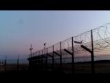 Взлёт самолёта со взлётной полосы Геленджикского аэропорта