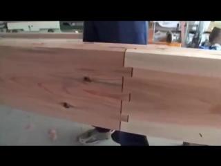 Древняя технология соединения бревен от японских плотников.