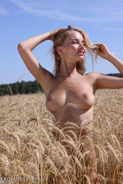 Девушки в поле ню фото