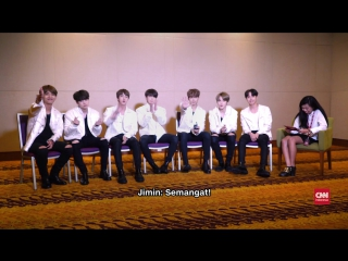 170501 BTS supports Indonesian ARMY's who are taking the National Examination @ CNN Indonesia