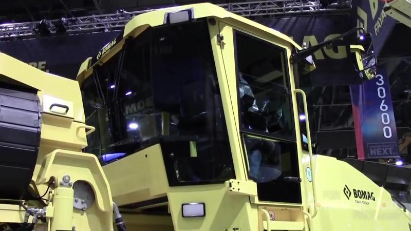 Ресайклер стабилизатор Bomag RS500 со смещающимся барабаном на выставке CONEXPO CON AGG 2017 в Лас Вегасе
