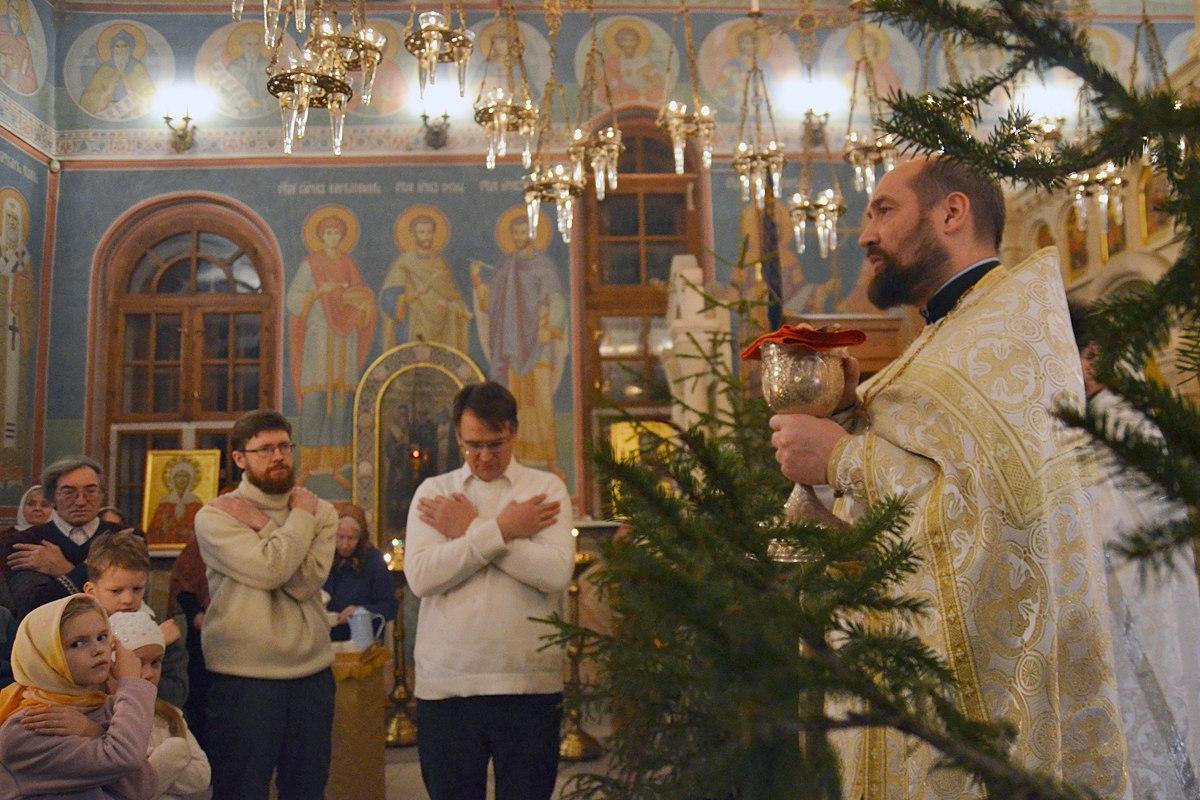 Рождественское богослужение в Пущинском храме