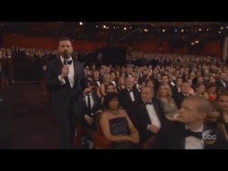 Matt Damon TRIPS Jimmy Kimmel Oscars 2017 FULL HD