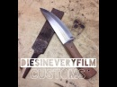 Making a bushcraft Knife from a farriers rasp file with no forge