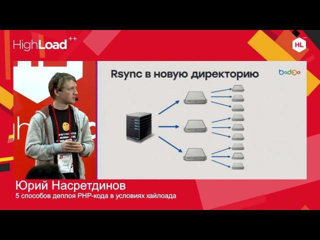 5 способов деплоя PHP кода в условиях хайлоада Юрий Насретдинов Badoo