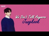 RUS SUB Jungkook - We don`t talk anymore Cover