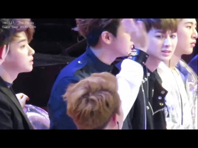 [FanCam]160513 The Remix-iKON Guests Seat Cam