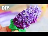 Как сделать Сирень из Лент / Lilac of ribbons Tutorial ✿ NataliDoma