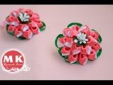 Мастер-класс Канзаши.Цветы из лент.Резинки для волос.Цветы Канзаши/Scrunchy. Flowers kanzashi