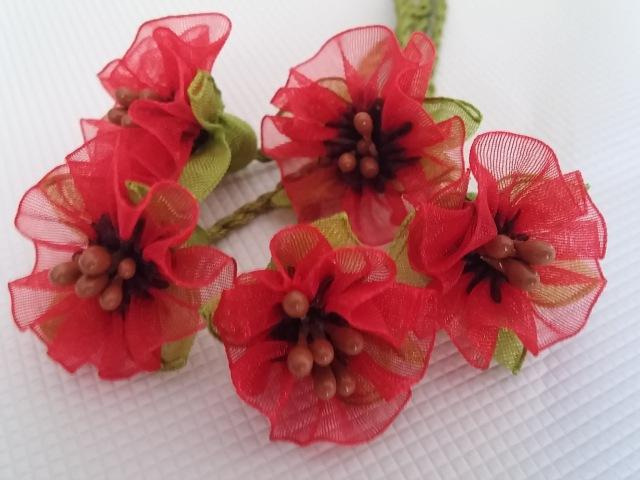 Kurdele oyası gelincik çiçeği yapılışı-How do I make poppy poppy flowers