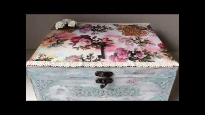 Cómo decorar una caja vintage con decoupage y chalk paint