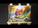 Painting a Autumn Forest Lanscape with Acrylics