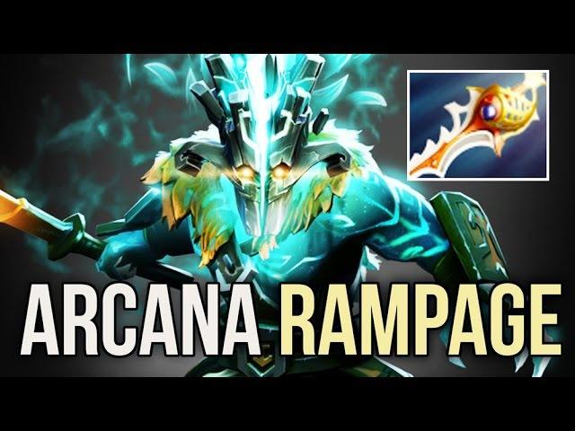 ARCANA JUGGERNAUT Rampage Rapier vs Megacreeps by DC.Moon 7700 MMR Sick Game 7.03 Dota 2