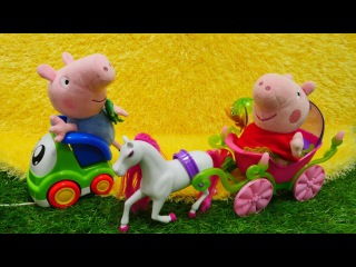 Свинка Пеппа коньки
