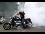 Boss Hoss V8 как правильно нужно палить резину)