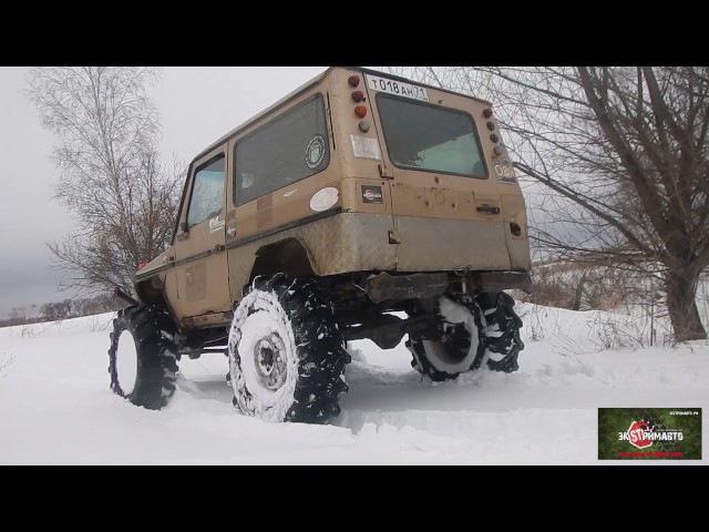 4 портальных авто по глубокому снегу (прокатка РВД Аринино 2017)