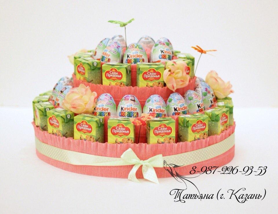 Двухъярусный торт своими руками на день рождения 192