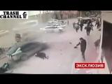 Драка гопников и взрыв гранаты