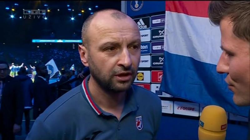 Hrvatska - Slovenija 30-31 (18-13), izjave Z. Babica i Z. Muse (za 3. mj., SP FRA), 28.01.2017. HD