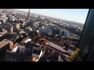 вид на Гамбург с высоты 106 метров
