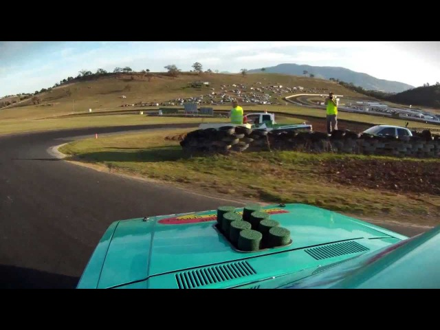 Lloyd Smith Falken V8 Corolla - Takes out Rd.2 of Tas Drift 2011