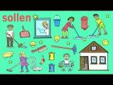 """Deutsches Modalverb """"sollen"""" – Haushalt, Essen, Empfehlungen/Verpflichtungen – German for children"""
