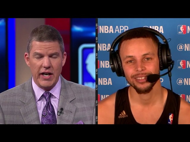 Stephen Curry Post Game Interview After hard-fought victory over the Sixers. - March 14, 2017