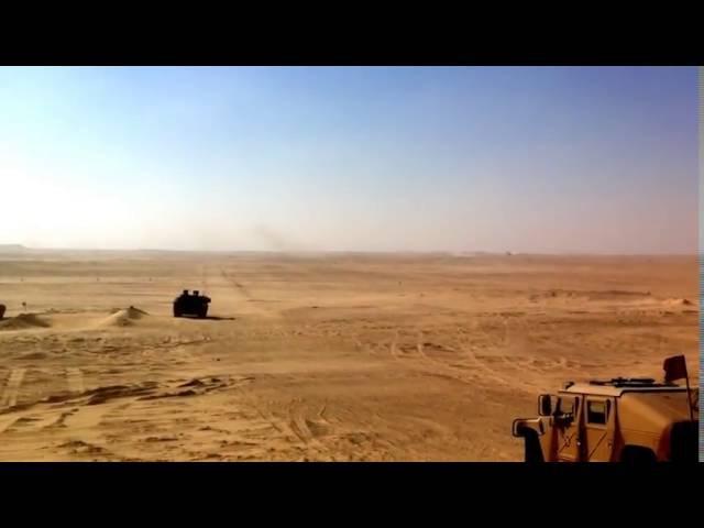 AMX-56 Leclerc French modern main battle tank Shooting in the desert