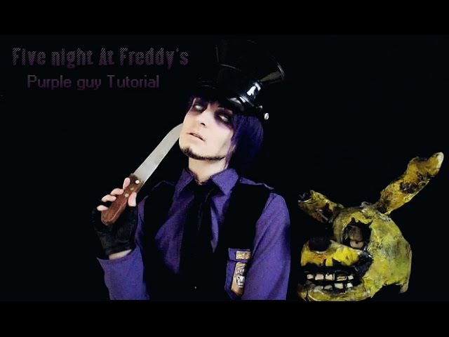 Five night at Freddy's Purple Guy Makeup Tutorial